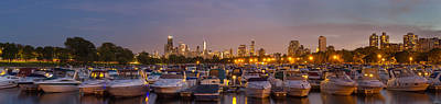 Chicago Skyline Photograph - Diversey Harbor And Chicago Skyline by Twenty Two North Photography