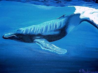 Painting - Diving Whale by Victoria Rhodehouse