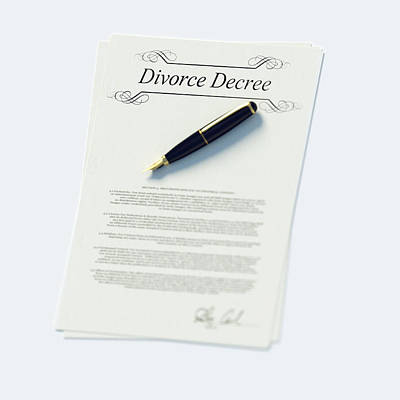 Divorce Papers In English And Pen Art Print by Doug Armand