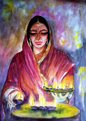 Diwali Painting - Diwali by Shashikanta Parida