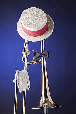 Trombone Photograph - Dixieland Hat And Trombone by M K  Miller