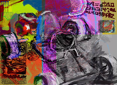 Go Kart Wall Art - Digital Art - Diy Gokart by James Thomas