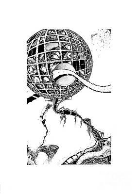 Planet System Drawing - Dizi by Jan Adrian Klein Ovink