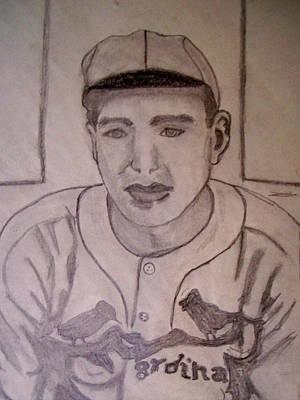 Dizzy Dean Cardinals Pitcher Art Print by De Beall