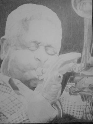 Drawing - Dizzy Gillespie by Milton  Gore