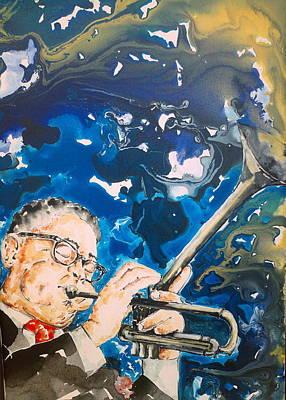 Dizzy Gillespie Art Print by Omar Javier Correa
