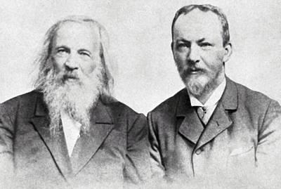 Periodicity Photograph - Dmitri Mendeleev And Bohuslav Brauner by Ria Novosti
