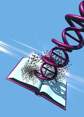 Dna Data Storage, Conceptual Artwork Art Print by Victor Habbick Visions