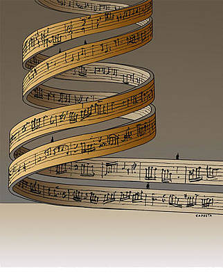 Drawing - Dna Music by Janusz Kapusta