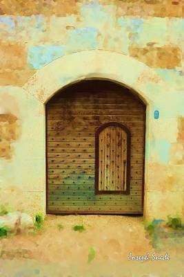 Photograph - Do-00489 Old Door Within A Door by Digital Oil