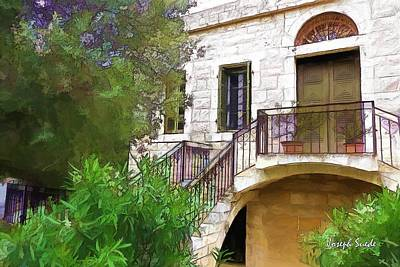 Photograph - Do-00490 Balcony Of Old House by Digital Oil