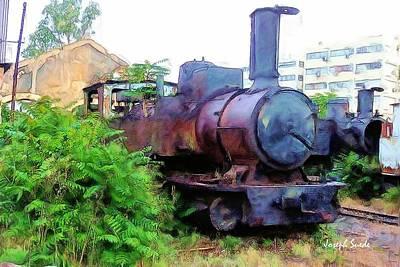 Photograph - Do-00504 Train In Mar Mickael by Digital Oil