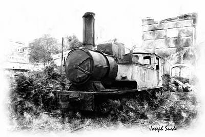 Photograph - Do-00508 Mar Mikhael Train Bw by Digital Oil