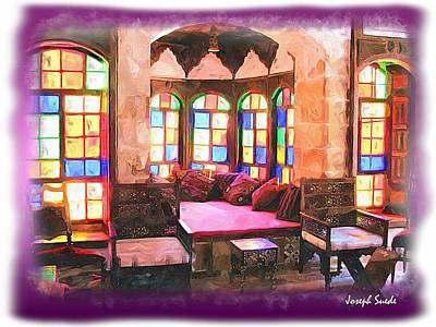 Photograph - Do-00520 Emir Bachir Palace Interior-violet Bkgd by Digital Oil