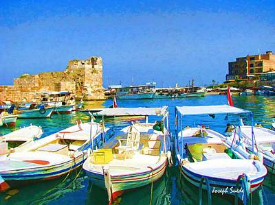 Photograph - Do-00523 Byblos Old Port by Digital Oil