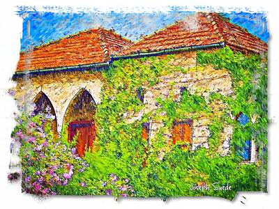 Photograph - Do-00529 Old House by Digital Oil