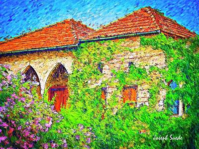 Photograph - Do-00530 Old House by Digital Oil