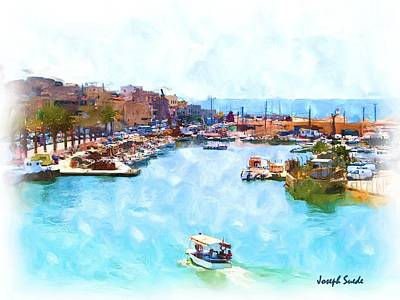 Photograph - Do-00533 Saida Old Fishing Harbour by Digital Oil