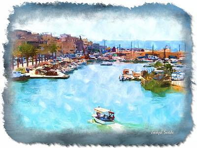 Photograph - Do-00534 Saida Old Fishing Harbour by Digital Oil