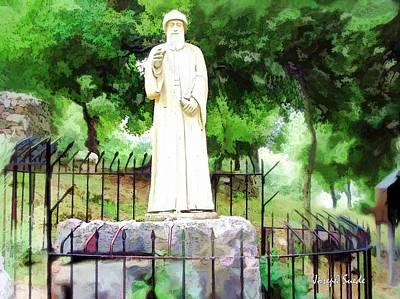 Photograph - Do-00541 St Charbel Statue by Digital Oil
