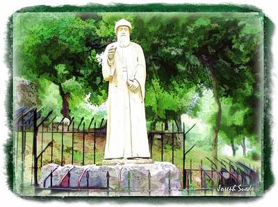 Photograph - Do-00542 St Charbel Statue by Digital Oil