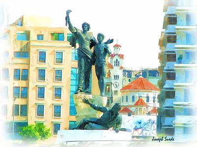 Photograph - Do-00543 The Martyrs Square by Digital Oil