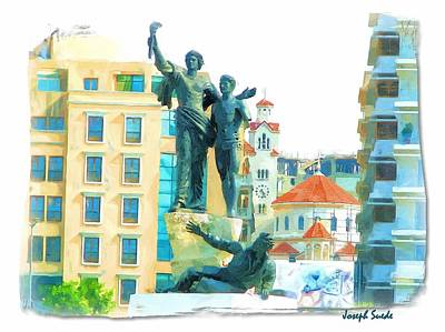 Photograph - Do-00544 The Martyrs Square by Digital Oil