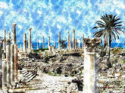 Photograph - Do-00549 Ruins And Columns - Town Of Tyr by Digital Oil