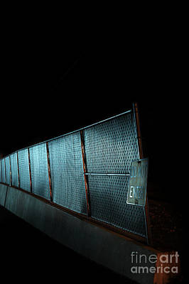 Black Metal Fence Photograph - Do Not Enter by HD Connelly