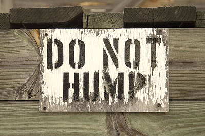 Hump Photograph - Do Not Hump by Mike McGlothlen