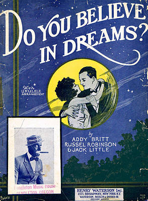 Old Sheet Music Photograph - Do You Believe In Dreams by Mel Thompson