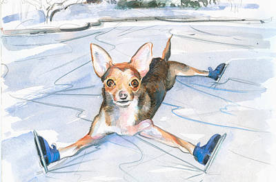 Painting - Dobby On Ice by P Anthony Visco
