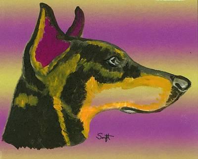 Doberman Pinscher Painting - Doberman Pinscher by Char Swift