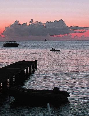 Keith Richards - Dock At Sunset by Ian  MacDonald