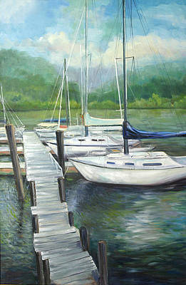 Painting - Dock Side by Max Mckenzie