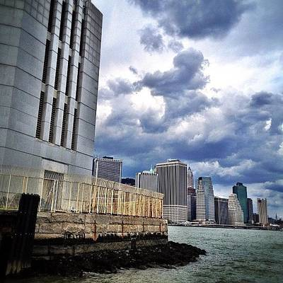 Skyscrapers Wall Art - Photograph - Dock View Of Nyc by Natasha Marco