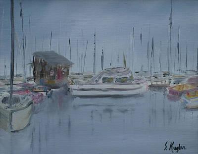Kugler Painting - Docked by Scott Kugler