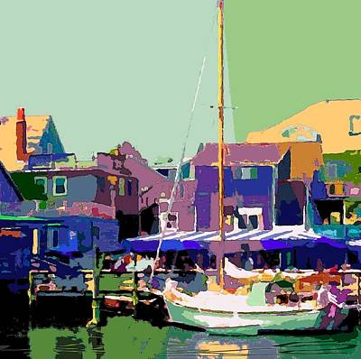 Docking Only In Woodshole Print by Donna Aloia