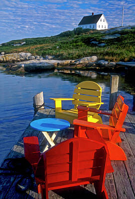 Dockside At Peggys Cove Art Print by Dave Mills