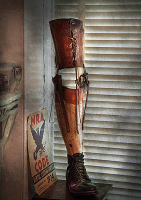 Doctor - A Leg Up In The Competition Art Print by Mike Savad