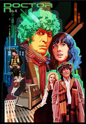 Doctor Who Number Seven Art Print