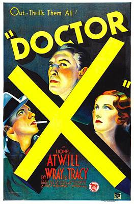 Lmps Photograph - Doctor X, Lee Tracy, Lionel Atwill, Fay by Everett