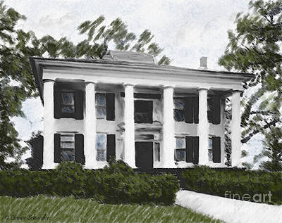 Dodd House Georgia Plantation Art Print by Lianne Schneider
