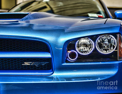 Dodge Charger Front Art Print by Paul Ward