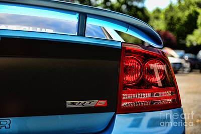 Dodge Charger Srt8 Rear Art Print by Paul Ward