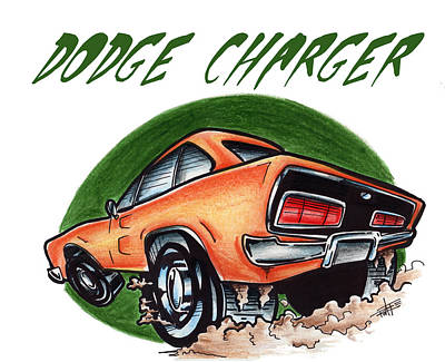 Dodge Charger Too Art Print by Big Mike Roate