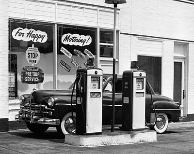 Dodge In Service Station Art Print by George Marks