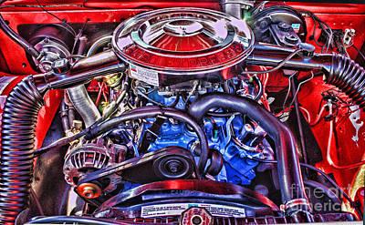 Dodge Motor Hdr Art Print by Randy Harris