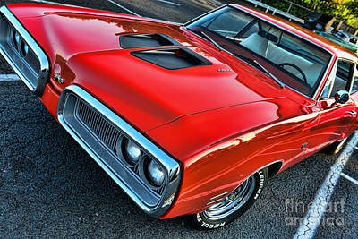 Dodge Super Bee In Red Art Print by Paul Ward