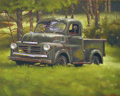 Junk Yard Painting - Dodge Truck by Todd Baxter